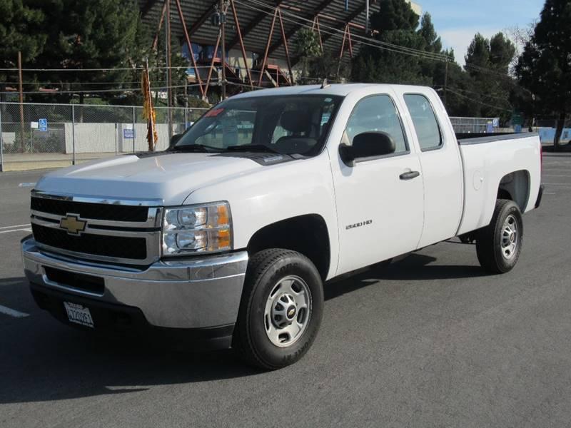 2012 CHEVROLET SILVERADO 2500HD WORK TRUCK 4X4 4DR EXTENDED CAB white 2012 chevrolet silverado 25