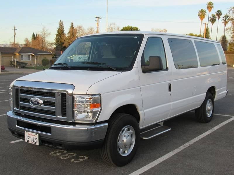 2014 FORD E-SERIES WAGON E 350 SD XLT 3DR EXTENDED PASSEN white 2014 ford e350 super duty passeng