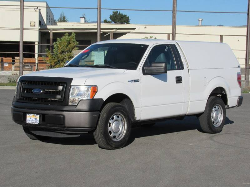 2013 FORD F-150 XL 4X2 2DR REGULAR CAB STYLESIDE white 2013 ford f150 regular cab xl pickup 2d 6