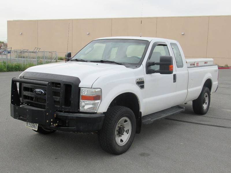 2008 FORD F-250 SUPER DUTY XL 4DR SUPERCAB 4WD LB white 2008 ford f250 super duty super cab xl pi