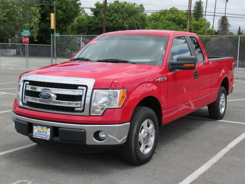 2014 FORD F-150 XLT 4X2 4DR SUPERCAB STYLESIDE 6 red 2014 ford f150 super cab xlt pickup 4d 6 12