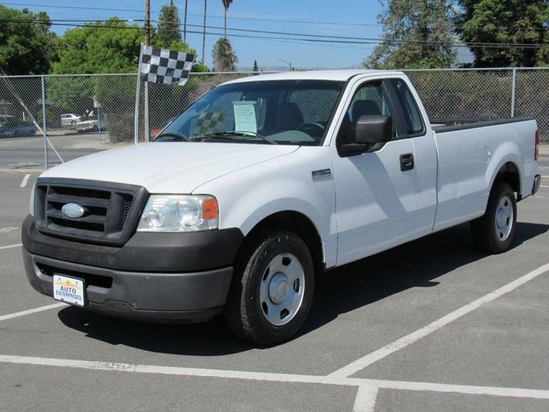 2008 FORD F-150 XL 4X2 2DR REGULAR CAB STYLESIDE white 2008 ford f150 regular cab xl pickup 2d 8