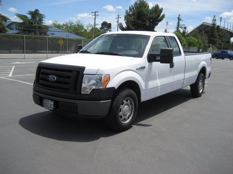 2010 FORD F-150 XL 4X2 4DR SUPERCAB STYLESIDE 8 white 2010 ford f150 super cab xl pickup 4d 8 ft