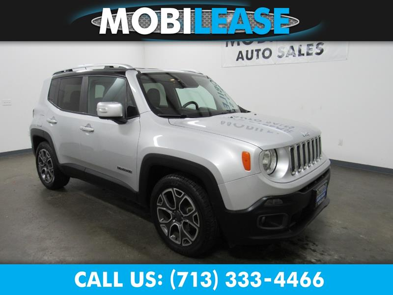 2017 Jeep Renegade Limited 4dr Suv In Houston Tx Mobilease Inc