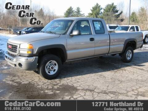 2003 GMC Sierra 2500HD for sale at Cedar Car Co in Cedar Springs MI