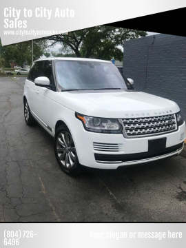 2017 Land Rover Range Rover for sale at City to City Auto Sales in Richmond VA