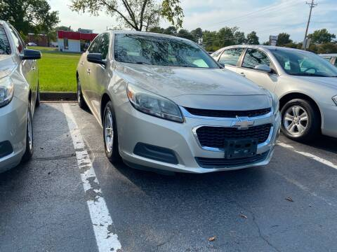2015 Chevrolet Malibu for sale at City to City Auto Sales in Richmond VA