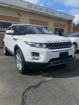 2012 Land Rover Range Rover Evoque for sale at City to City Auto Sales in Richmond VA