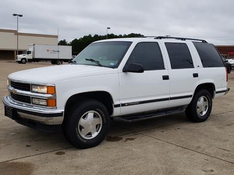 1998 Chevrolet Tahoe for sale at Tyler Car  & Truck Center in Tyler TX