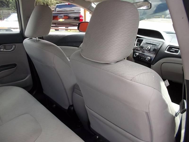 2013 Honda Civic LX 4dr Sedan 5A - San Antonio TX