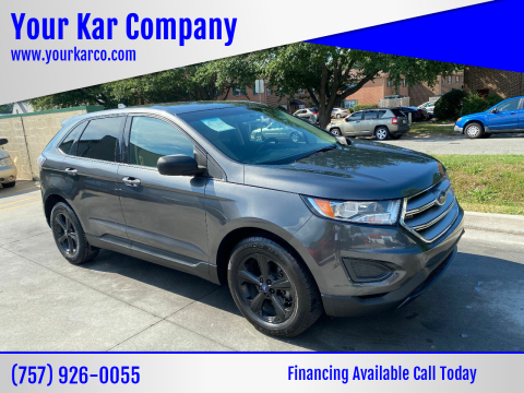 2016 Ford Edge for sale at Your Kar Company in Norfolk VA
