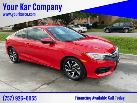 2016 Honda Civic for sale at Your Kar Company in Norfolk VA