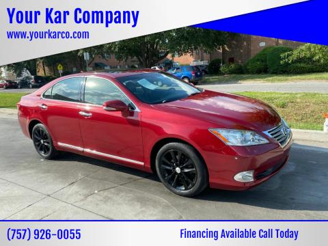 2012 Lexus ES 350 for sale at Your Kar Company in Norfolk VA