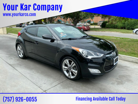 2016 Hyundai Veloster for sale at Your Kar Company in Norfolk VA