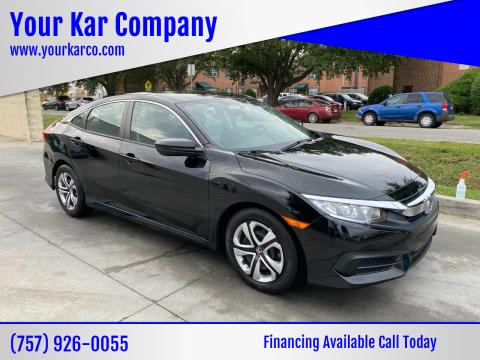 2017 Honda Civic for sale at Your Kar Company in Norfolk VA