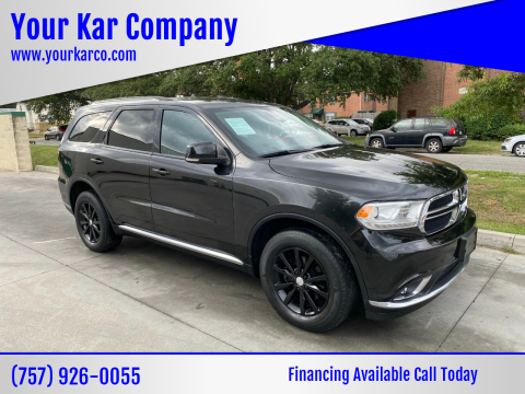 2015 Dodge Durango for sale at Your Kar Company in Norfolk VA