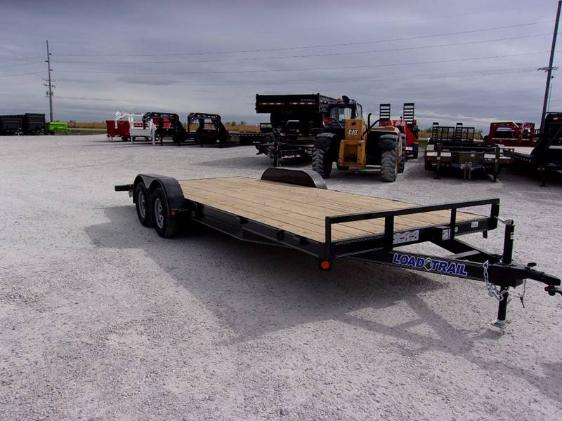2018 Load Trail 20 Car Trailer 7000 Lb Gvwr Flatbed Tandem Axle
