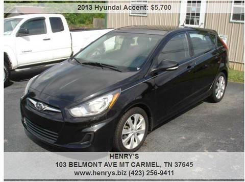 2013 Hyundai Accent for sale in Mt Carmel, TN