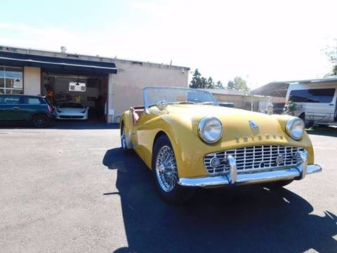 1963 Triumph TR3 for sale at Milpas Motors in Santa Barbara CA