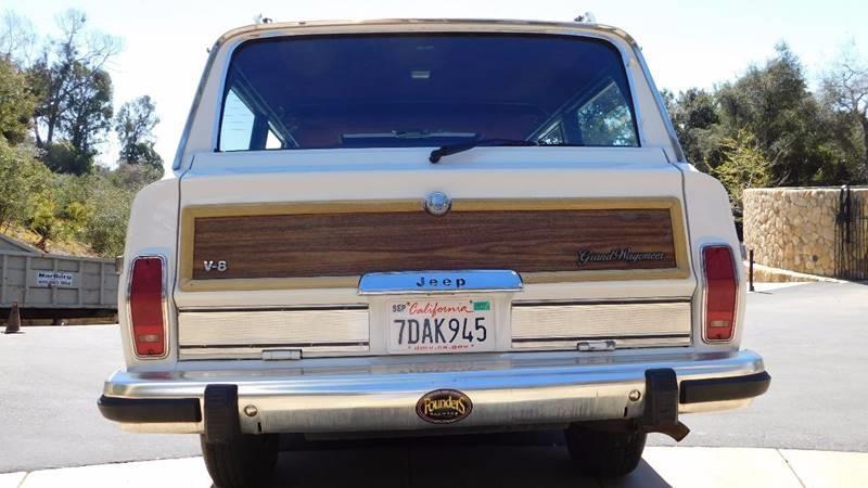 1989 Jeep Grand Wagoneer 4dr 4WD SUV - Santa Barbara CA