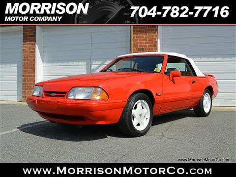 1992 Ford Mustang LX 5.0 for sale at Morrison Motor Co in Concord NC