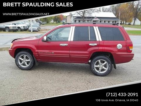 2002 Jeep Grand Cherokee for sale at BRETT SPAULDING SALES in Onawa IA