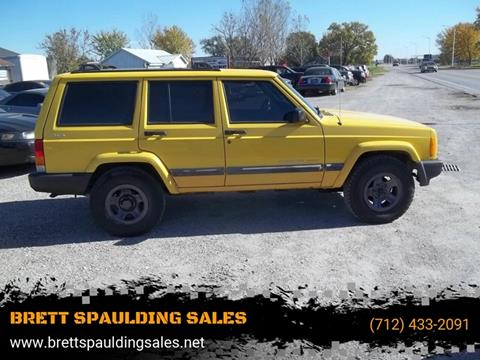 2001 Jeep Cherokee for sale at BRETT SPAULDING SALES in Onawa IA