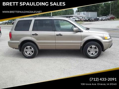 2005 Honda Pilot for sale at BRETT SPAULDING SALES in Onawa IA