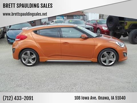 2015 Hyundai Veloster for sale at BRETT SPAULDING SALES in Onawa IA