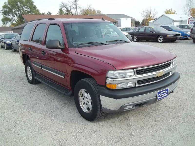 2005 chevrolet tahoe ls 4wd 4dr suv in onawa ia brett. Black Bedroom Furniture Sets. Home Design Ideas