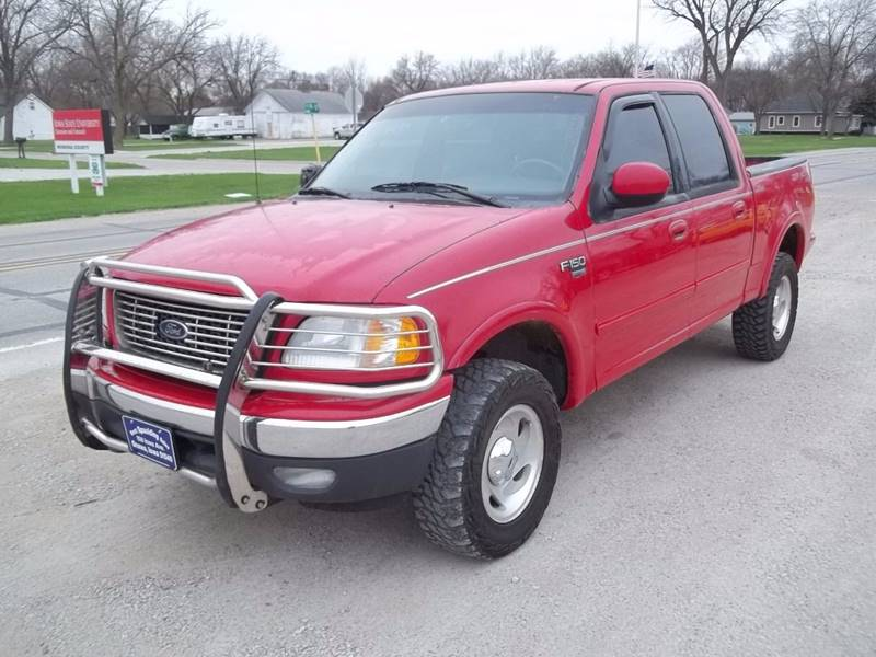 2001 ford f 150 4dr supercrew lariat 4wd styleside sb in onawa ia brett spaulding sales. Black Bedroom Furniture Sets. Home Design Ideas