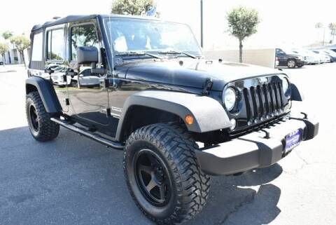 2017 Jeep Wrangler Unlimited for sale at DIAMOND VALLEY HONDA in Hemet CA