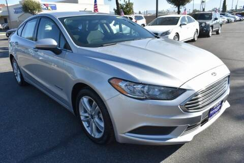 2018 Ford Fusion Hybrid for sale at DIAMOND VALLEY HONDA in Hemet CA