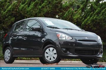 2015 Mitsubishi Mirage for sale at NATIONAL CITY AUTO CENTER INC in National City CA