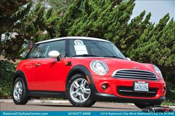 2013 MINI Hardtop for sale at NATIONAL CITY AUTO CENTER INC in National City CA