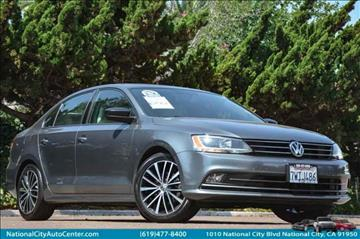 2016 Volkswagen Jetta for sale at NATIONAL CITY AUTO CENTER INC in National City CA