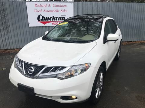2012 Nissan Murano for sale at Chuckran Auto Parts Inc in Bridgewater MA