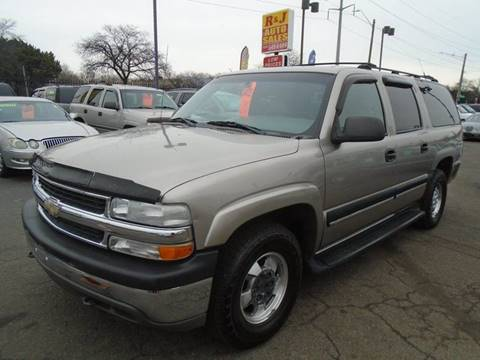 2001 Chevrolet Suburban 1500 LT for sale at RJ AUTO SALES in Detroit MI