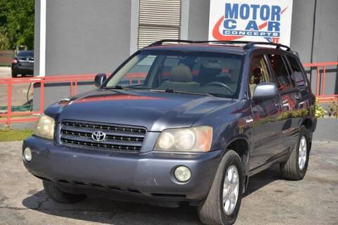 2002 Toyota Highlander for sale at Motor Car Concepts II - Colonial Location in Orlando FL