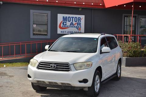 2008 Toyota Highlander for sale at Motor Car Concepts II - Kirkman Location in Orlando FL