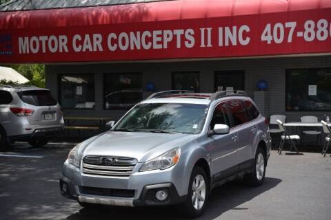 2014 Subaru Outback for sale at Motor Car Concepts II - Apopka Location in Apopka FL