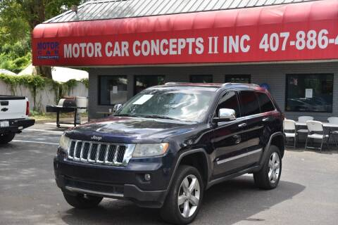 2011 Jeep Grand Cherokee for sale at Motor Car Concepts II - Apopka Location in Apopka FL
