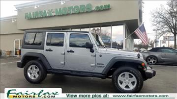 2013 Jeep Wrangler Unlimited for sale in Fairfax, VA