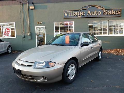 2003 Chevrolet Cavalier for sale at Village Auto Sales in Milford CT