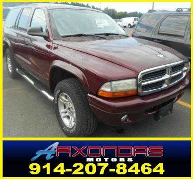 2002 Dodge Durango for sale at ARXONDAS MOTORS in Yonkers NY