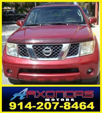 2005 Nissan Pathfinder for sale at ARXONDAS MOTORS in Yonkers NY