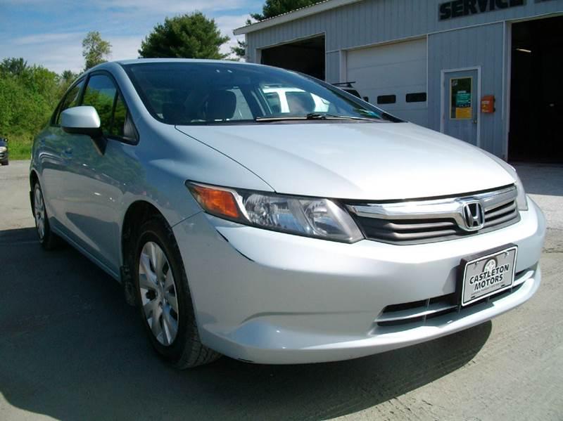 2012 Honda Civic for sale at Castleton Motors LLC in Castleton VT