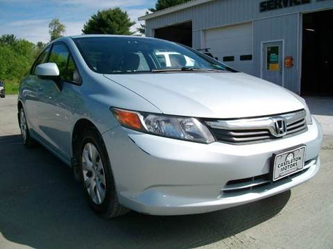 2012 Honda Civic for sale at Castleton Motors LLC in Castleton VT