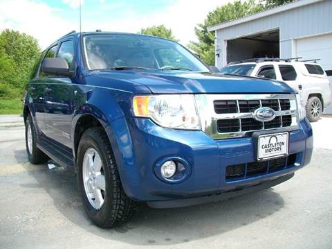2008 Ford Escape for sale at Castleton Motors LLC in Castleton VT