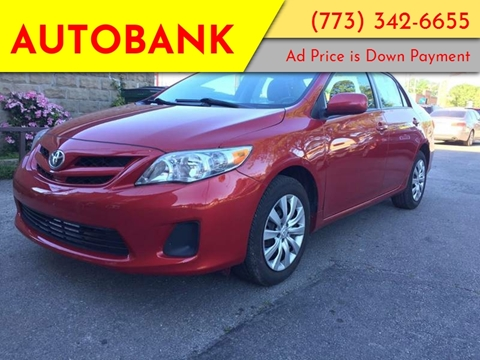 2012 Toyota Corolla for sale at AutoBank in Chicago IL